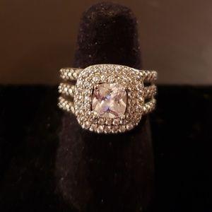 Jewelry - Beautiful 5mm square cut cubic zirconia ring